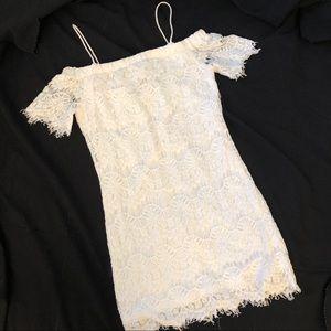 Topshop White Lace Mini Dress